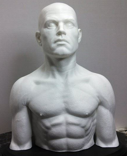 1/2 Scale Male Maquette Sculpting form